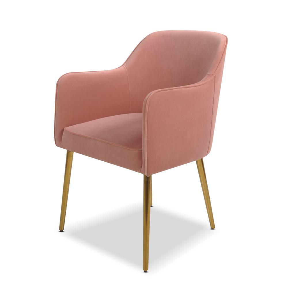 Ivy Blush Pink Mid-Century Modern Accent Desk Chair