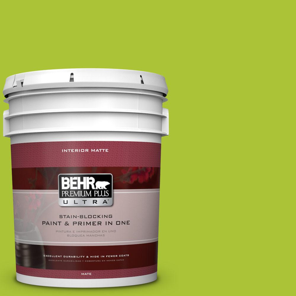 BEHR Premium Plus Ultra 5 gal. #410B-6 Crisp Green Flat/Matte Interior Paint
