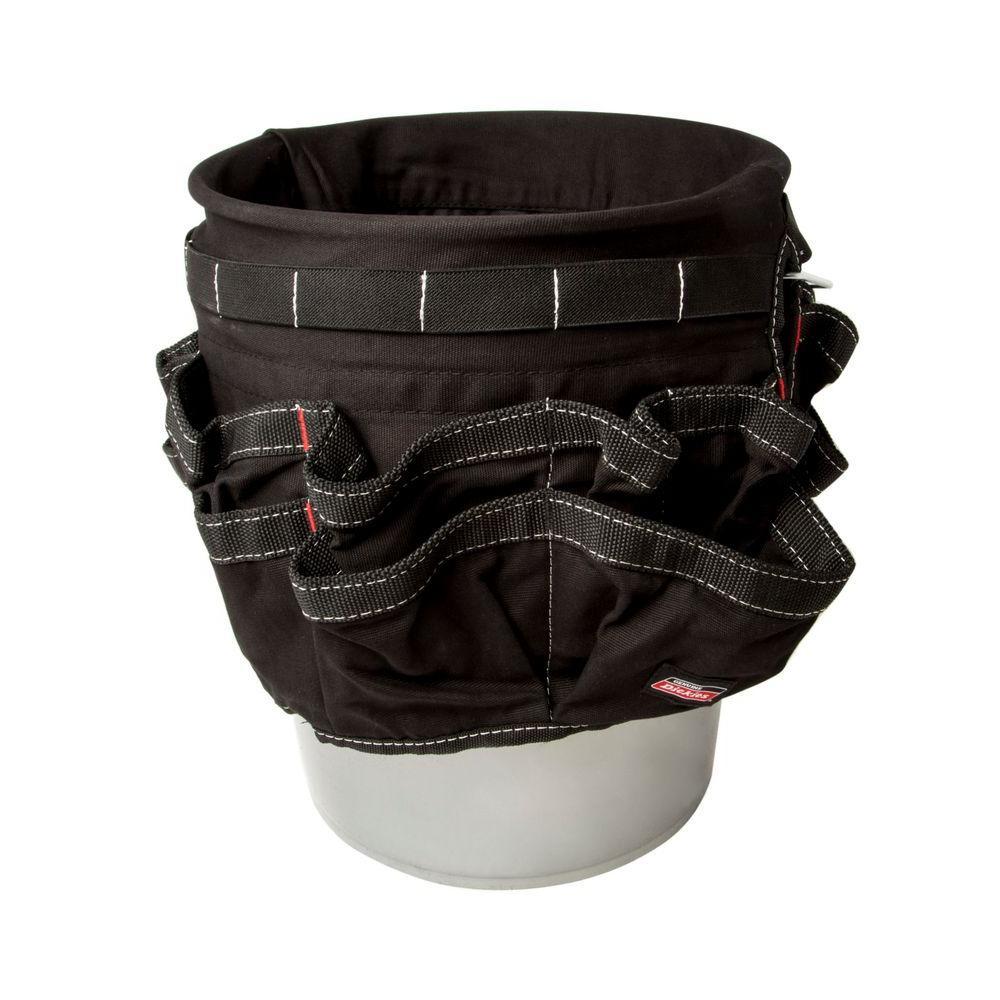 12 in. 42-Compartment Bucket Organizer in Black