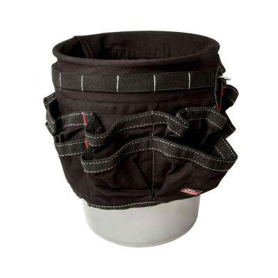 12 in. 42-Compartment Bucket Organizer in Black