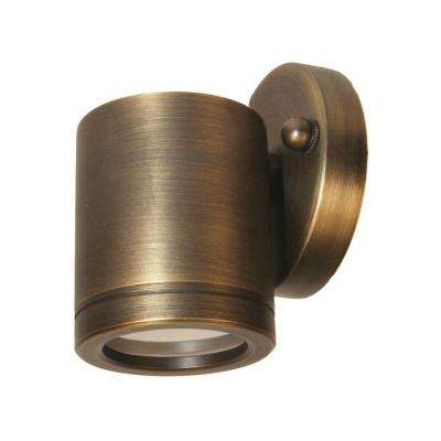 1-Light Antique Bronze Die Cast Brass Wall Mount