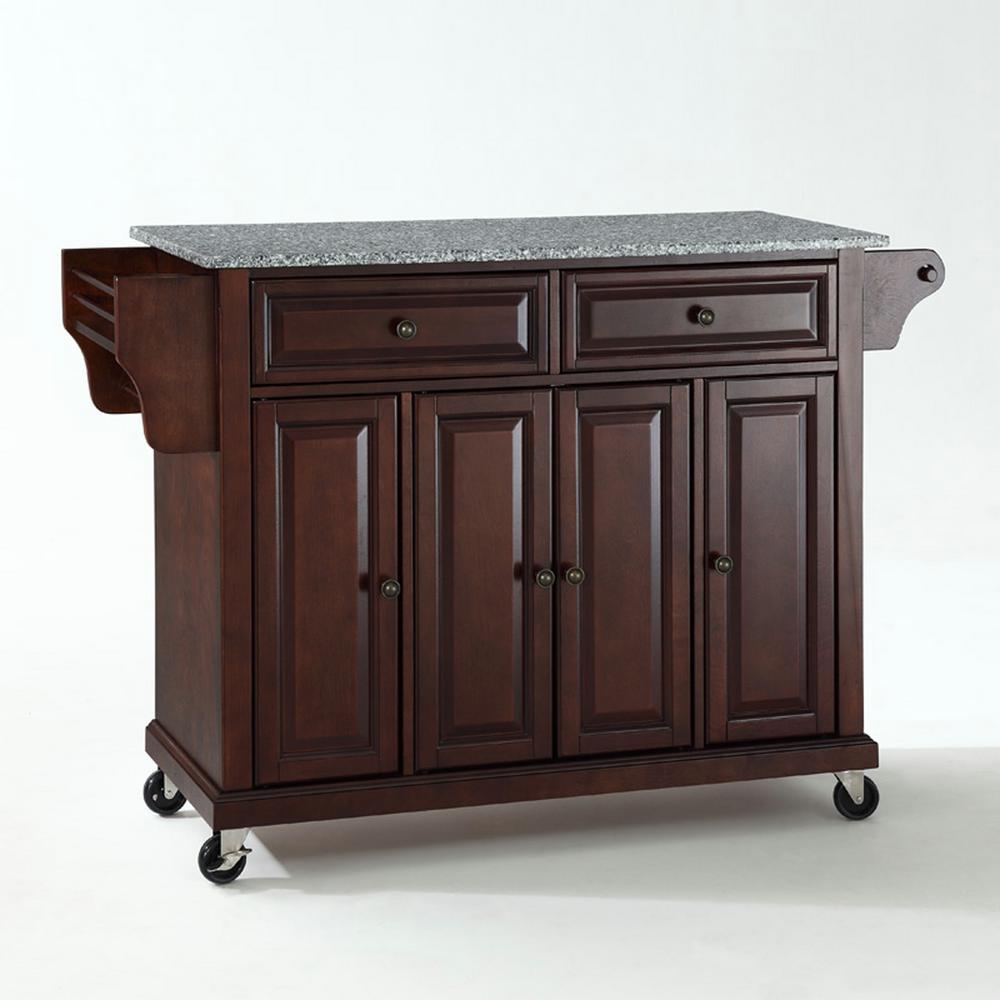 Internet #204460599. Crosley Mahogany Kitchen Cart ...