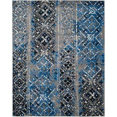 Adirondack Silver/Multi 9 ft. x 12 ft. Area Rug