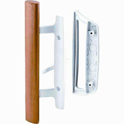 Patio Door Handle Set with Wooden Handle