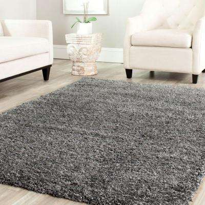 California Shag Dark Gray 3 ft. x 5 ft. Area Rug