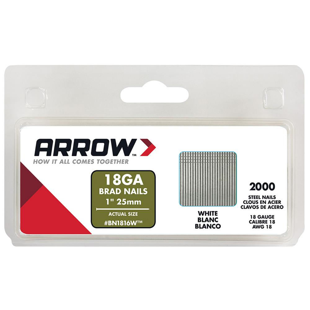 Arrow Fastener 1 in. Brad Nails (2000-Pack)