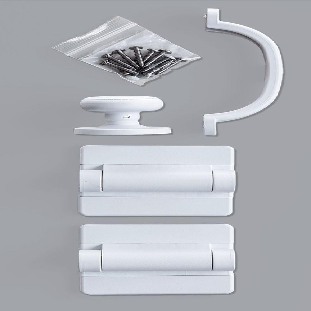 White Heavy Duty Screen Door Hardware Kit Sdhwt The Home