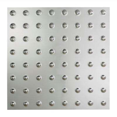 Dome 2 ft. x 2 ft. Vinyl Lay-In Ceiling Tile in Brushed Aluminum