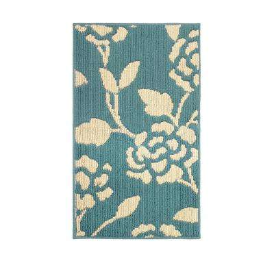 Sofia Blue Lagoon/Berber 2 ft. x 4 ft. Loop Area Rug