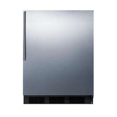 24 in. W 5.5 cu. ft. Mini Refrigerator in Stainless Steel without Freezer