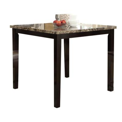 Brown Spacious Wooden High Table with Marble Top