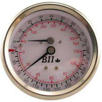 3 in. Industrial Combination Pressure Gauge/Thermometer