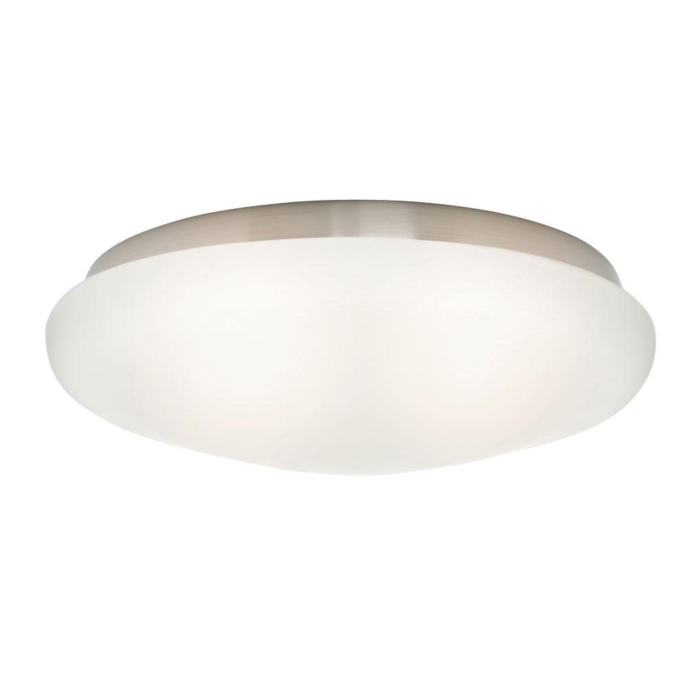Casablanca 2.25 in. Cased White Shallow Globe for Low Profile Fitters Ceiling Fan Light Kit