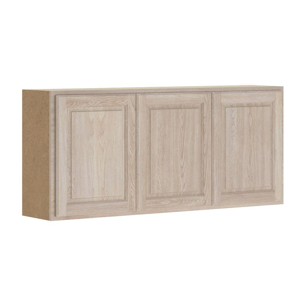 Home Depot Kitchen Cabinets Unfinished: Hampton Bay Assembled 54x24x12 In. Stratford Wall Cabinet