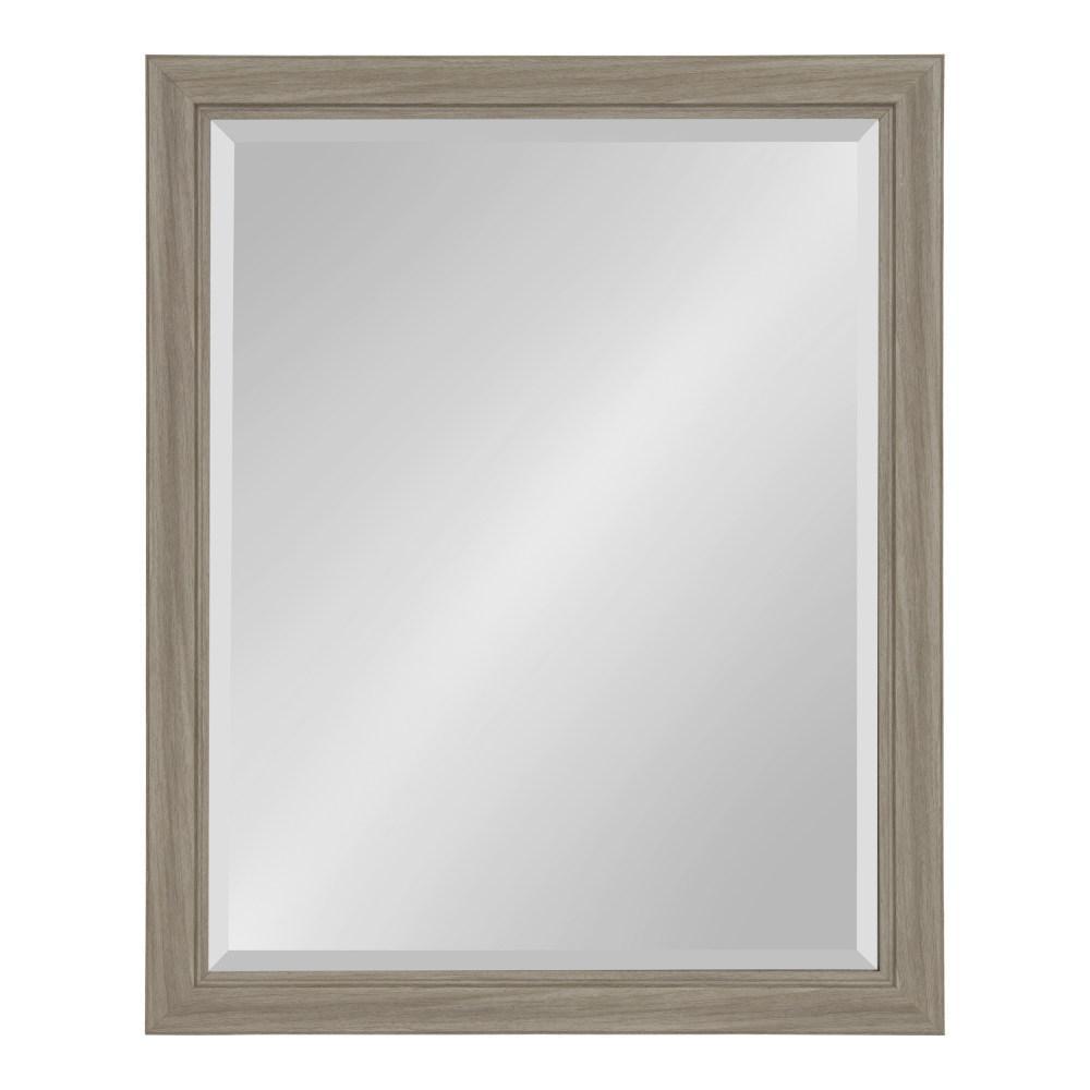 Dalat Rectangle 26 in. x 32 in. Gray Framed Wall Mirror