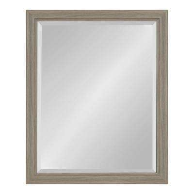 Dalat Rectangle 26 in. x 32 in. Gray Framed Wall Mirror