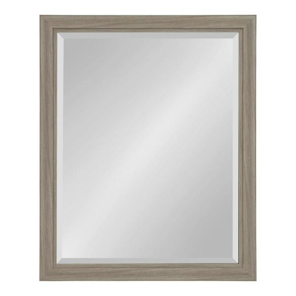 Kate and Laurel Dalat Rectangle 26 in. x 32 in. Gray Framed Wall Mirror