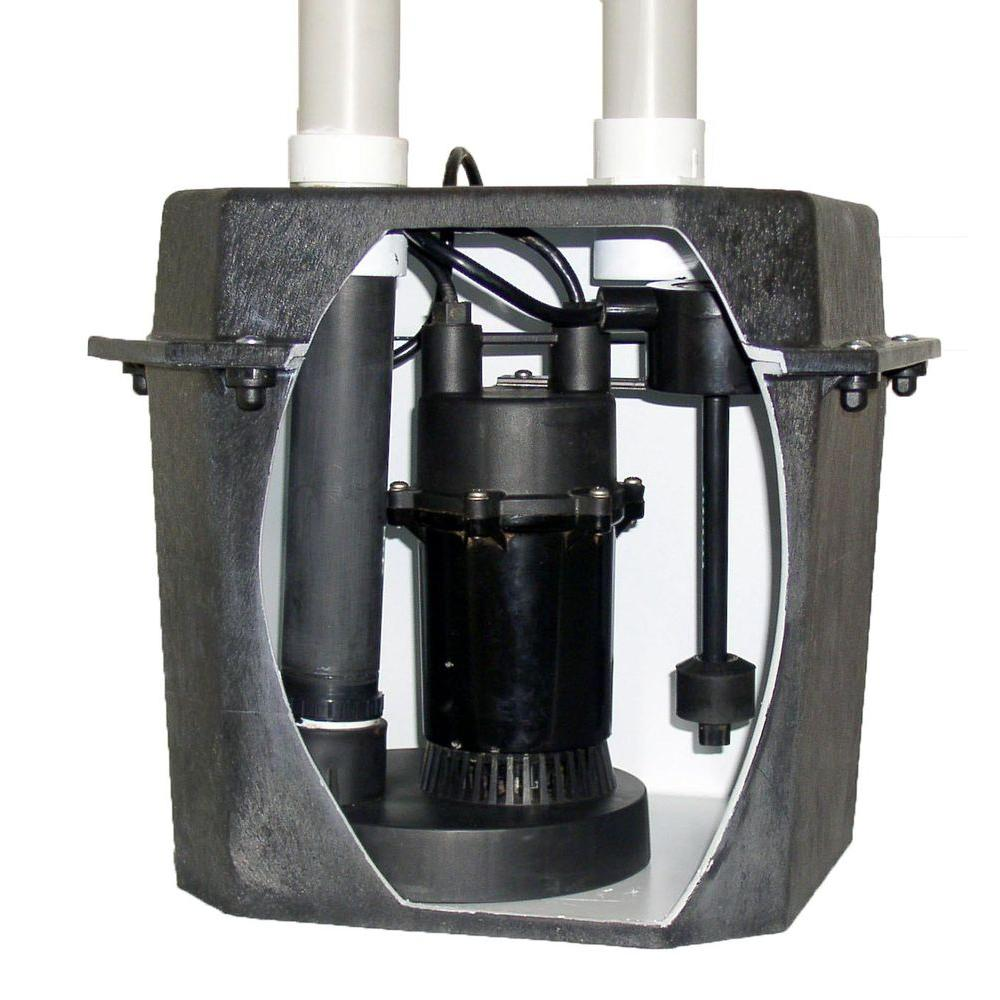 Everbilt 0 25 Hp Pre Plumbed Sink Tray System Sump Pump