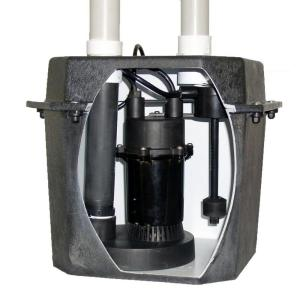 Everbilt 0.25 HP Pre-Plumbed Sink Tray System Sump Pump by Everbilt