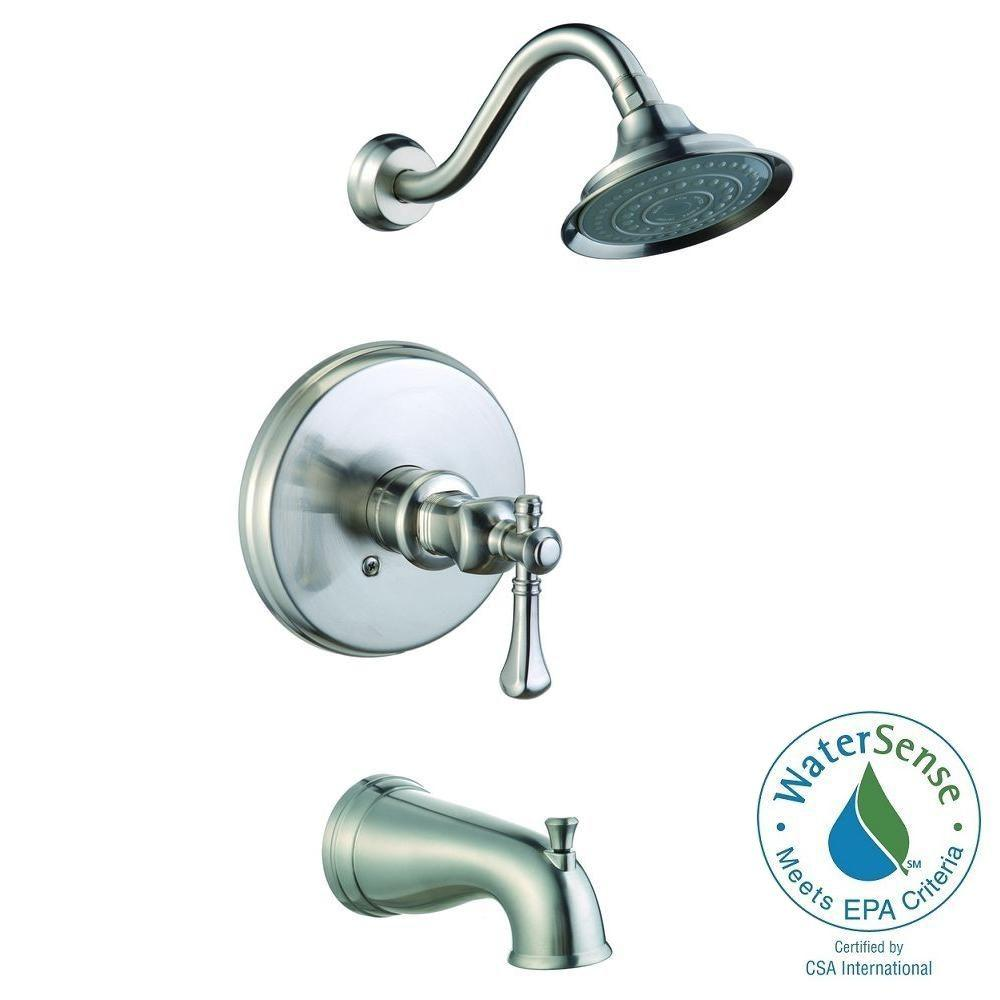 brushed nickel tub and shower faucet set. Verdanza WaterSense Single Handle 1 Spray Tub and Shower Faucet in Brushed  Nickel Pegasus Bathtub Combos Faucets The