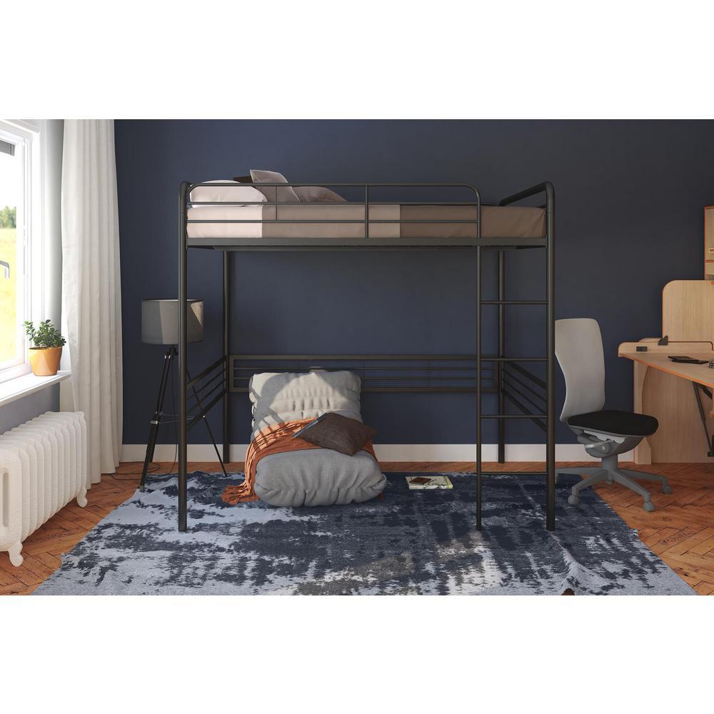 Black And White Loft Bedroom Bedroom Decorating Ideas Diy Paint Colors For Bedroom Bedroom Curtains Kmart: DHP Amelia Black Full Metal Loft Bed-DE47148