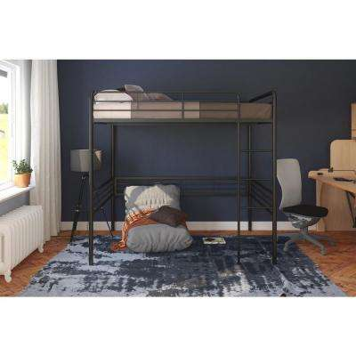 Amelia Black Full Metal Loft Bed