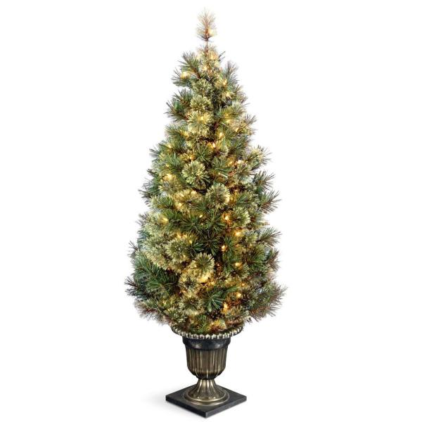 5 ft. Wispy Willow Grande Entrance Artificial Christmas Tree with Clear Lights