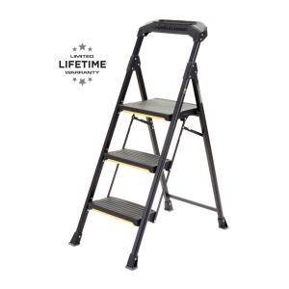 Fine Gorilla Ladders 3 Step Lightweight Steel Step Stool Ladder Evergreenethics Interior Chair Design Evergreenethicsorg