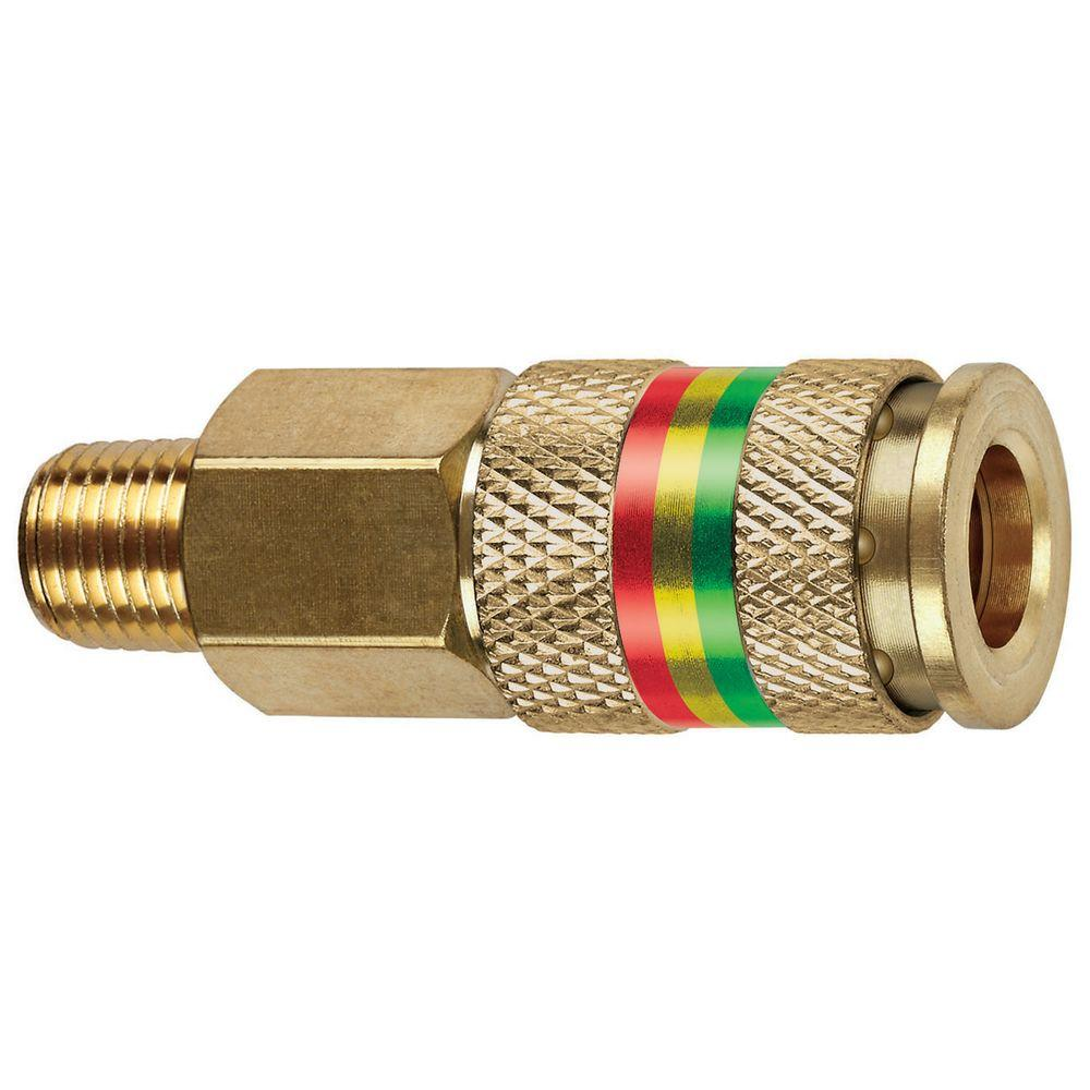 1/4 in. MNPT x 1/4 in. Universal Brass Coupler