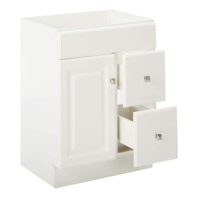 Wyndham 24 in. W x 18 in. D Unassembled Bath Vanity Cabinet Only in White Semi-Gloss