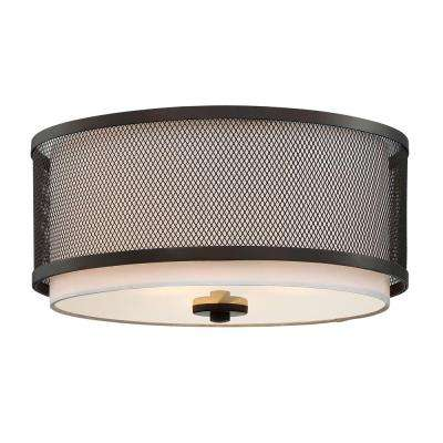 3-Light Oil Rubbed Bronze Flushmount