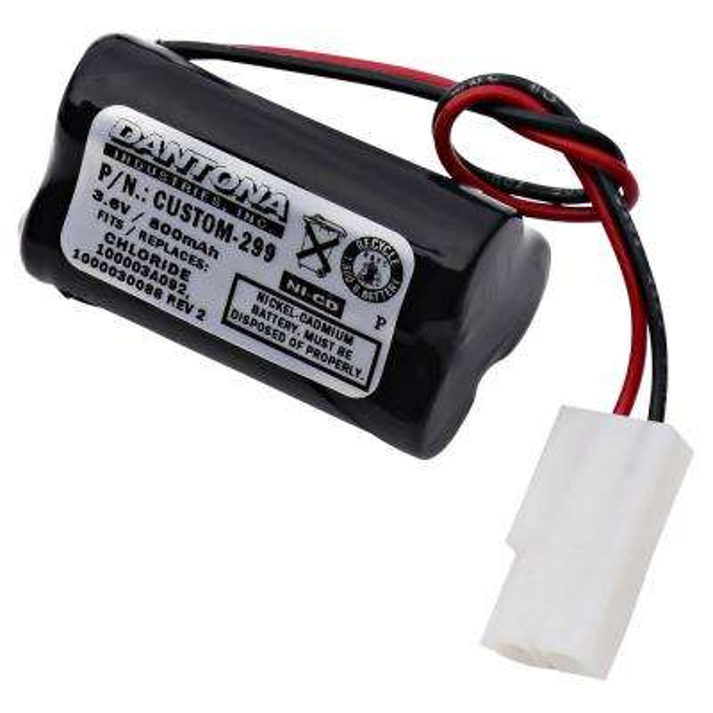 Dantona 3.6-Volt 800 mAh Ni-Cd battery for Chloride - 1000030088 REV 2 Emergency Lighting