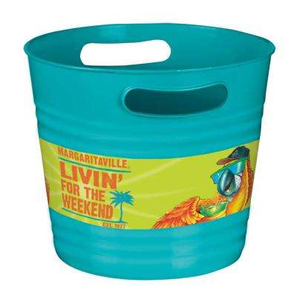 8.5 in. x 10 in. Plastic Summer Margaritaville Ice Bucket (3-Pack)
