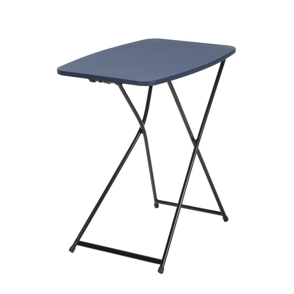 Dark Blue Adjustable 2-Pack Folding Tailgate Table