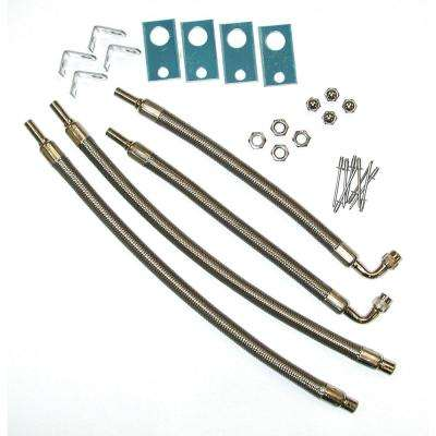 """Hose Extenders For 16""""-19.5"""" Wheel Liners & Covers - 4 Hose Kit, Hand Hole Mount"""