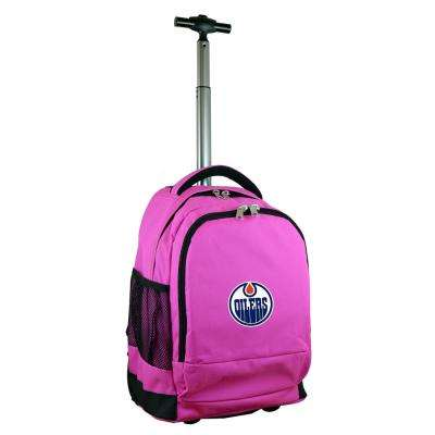 NHL Edmonton Oilers 19 in. Pink Wheeled Premium Backpack