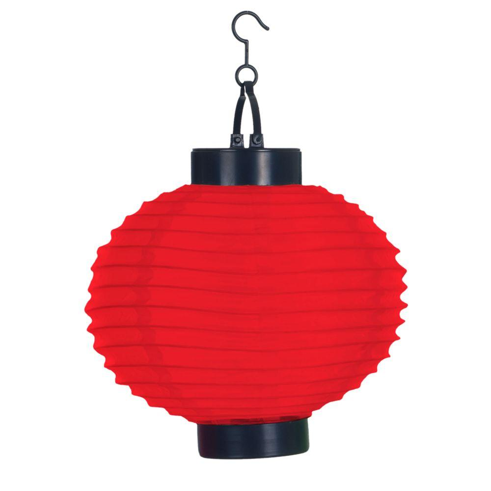 pure garden 4 light red outdoor led solar chinese lantern 50 19 r