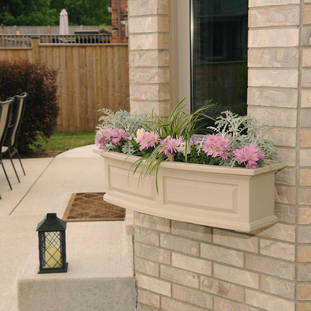 3 ft. Nantucket Clay Plastic Window Box