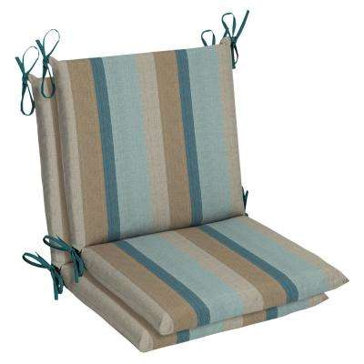 Sunbrella Gateway Mist Outdoor Dining Chair Cushion (2 Pack)