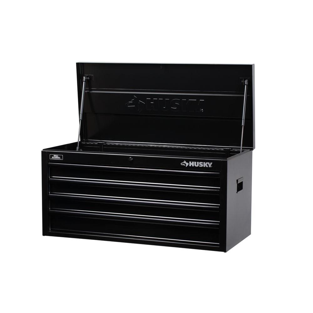 null 40 in. W 4-Drawer All Black Tool Chest