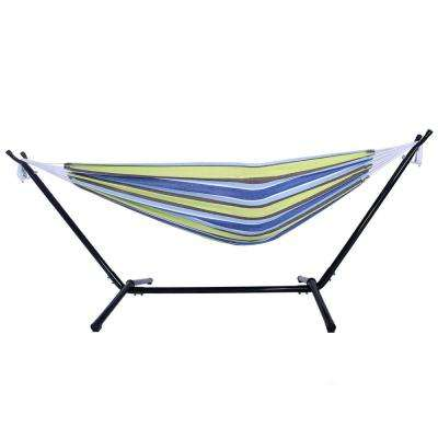 3.4 ft. Portable Outdoor Polyester Hammock Set in Green