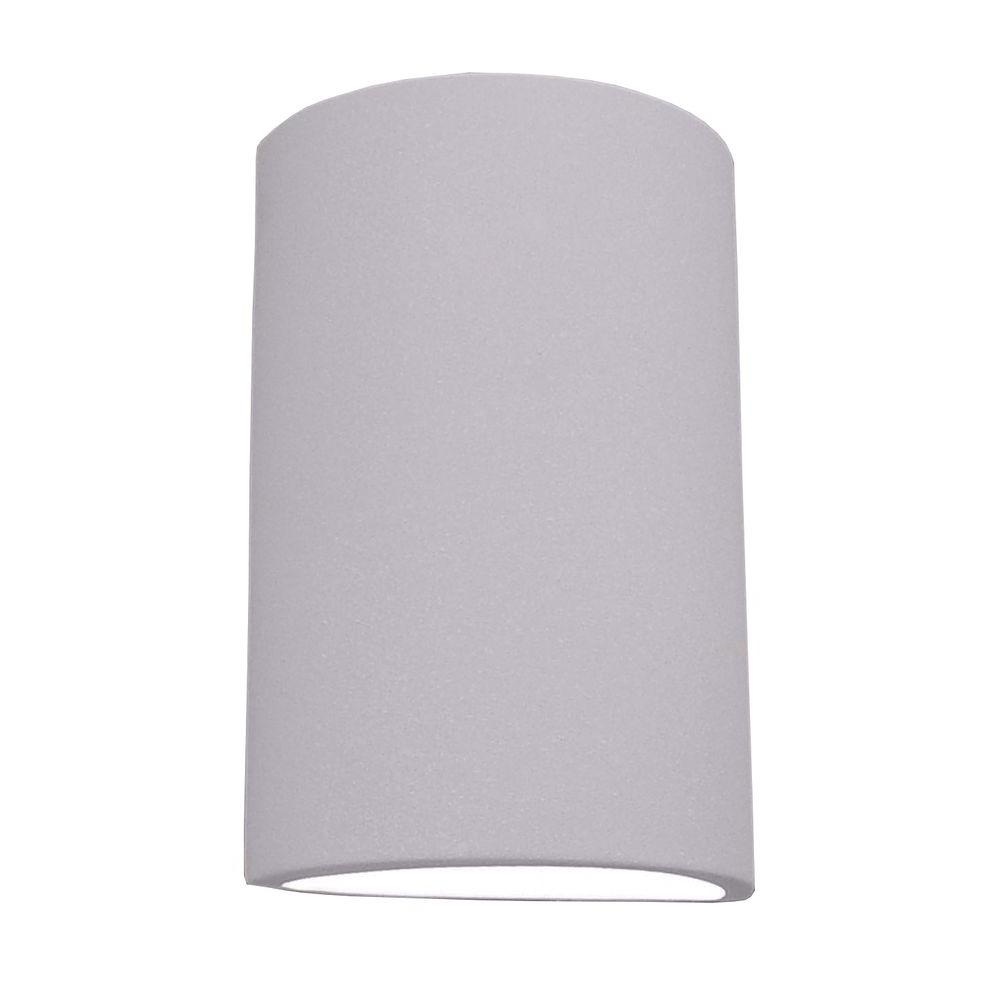 Gunmetal Grey Wall Lights : Filament Design Franklin Bisque Grey Ceramic Outdoor Wall Sconce-CLI-EDG805545 - The Home Depot