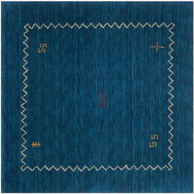 Himalaya Blue 8 ft. x 8 ft. Square Area Rug