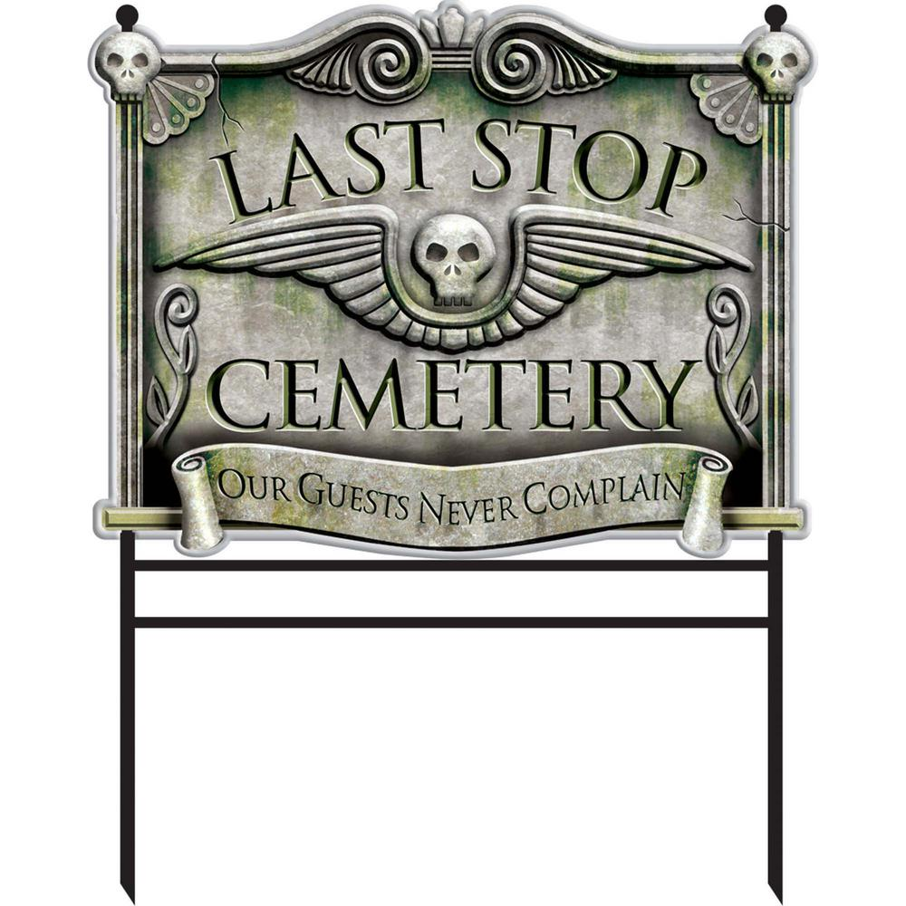 Halloween Cemetery Sign Stakes