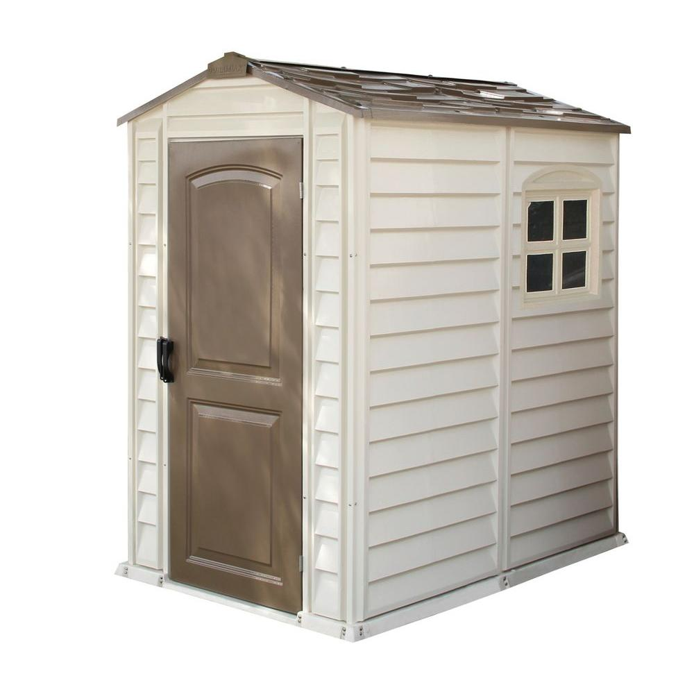 Keter Fusion 7.5 ft. x 9 ft. Wood and Plastic Composite Shed-224449 ...