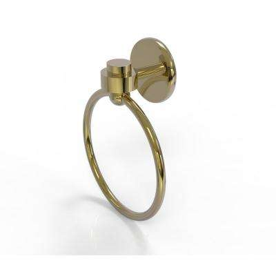 Satellite Orbit One Collection Towel Ring in Unlacquered Brass