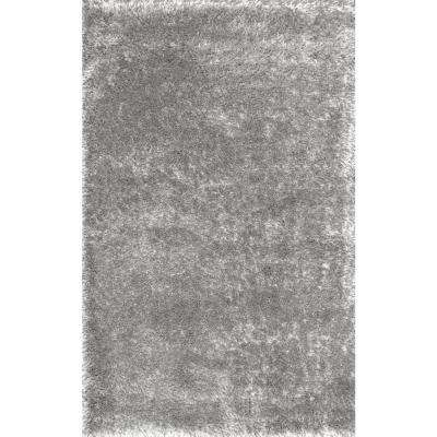 Millicent Shaggy Grey 4 ft. x 6 ft. Area Rug