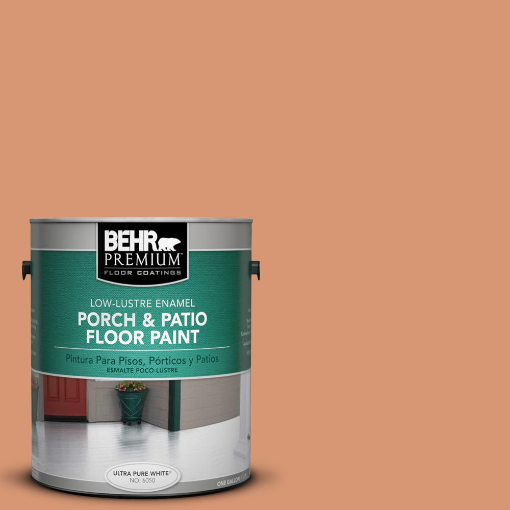 1 gal. #M210-5 Candied Yams Low-Lustre Porch and Patio Floor Paint