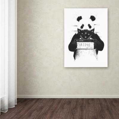 """19 in. x 14 in. """"Bad Panda"""" by Balazs Solti Printed Canvas Wall Art"""