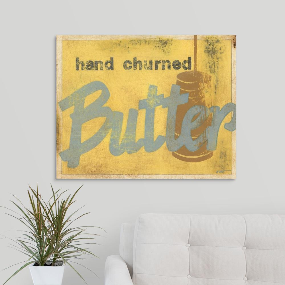 GreatBigCanvas ''Butter'' by Norman Wyatt Canvas Wall Art 1137980_24_30x24